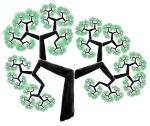 Fractais - árvore folhas verdes