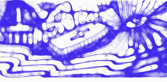 Esquizofrérico ilustração Denise