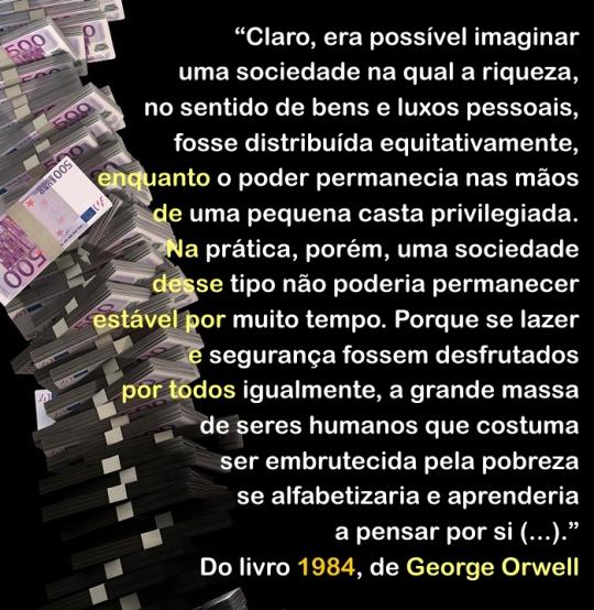 Citação - George Orwell - A riqueza 2
