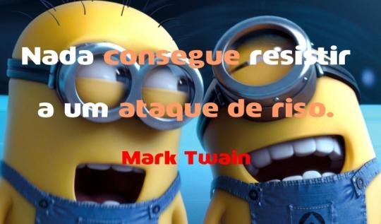 Citação - Mark Twain - Ataque de riso