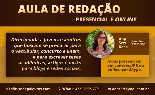 Aula de redação - Ana Setti - Blog