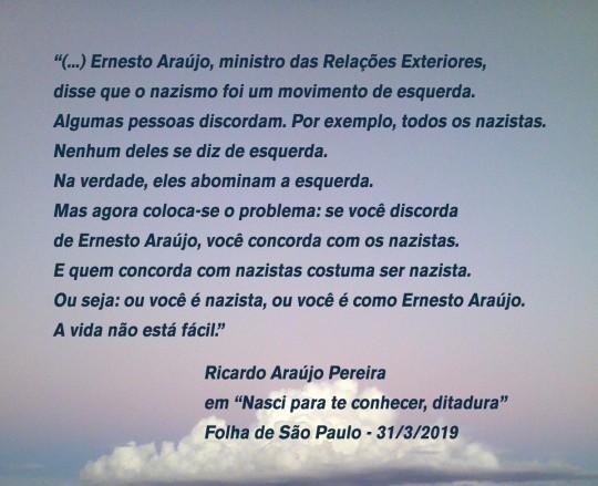Citação de Ricardo Araújo Pereira - Nazismo OK