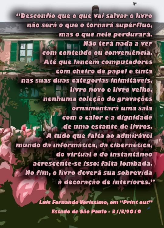 Citação LF Verissimo - Livros - em rosa